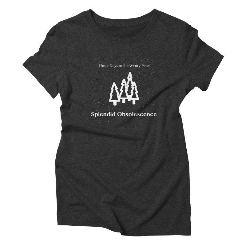 Three Days In The Wintry Pines Album Cover - Splendid Obsolescence Women's T-Shirt by Splendid Obsolescence