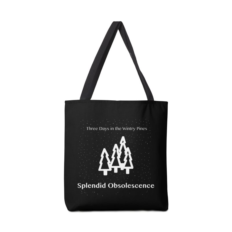 Three Days In The Wintry Pines Album Cover - Splendid Obsolescence Accessories Bag by Splendid Obsolescence