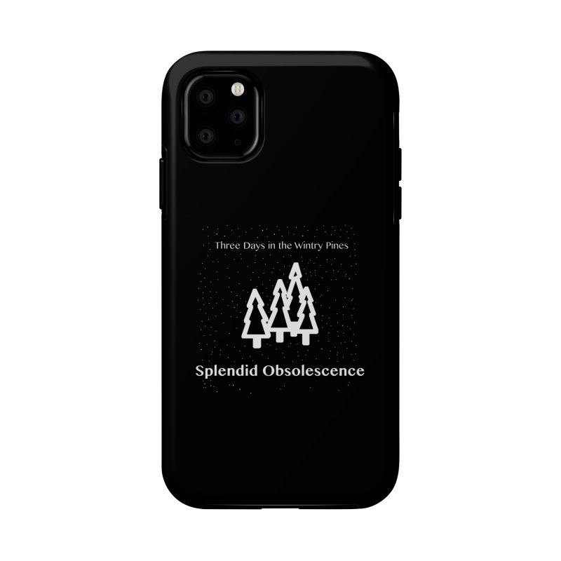 Three Days In The Wintry Pines Album Cover - Splendid Obsolescence Accessories Phone Case by Splendid Obsolescence