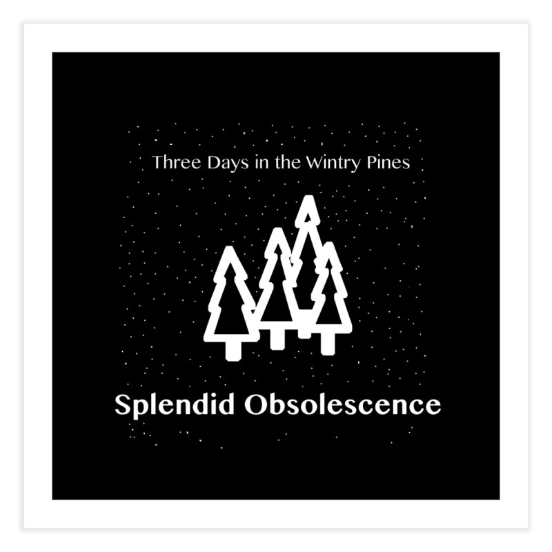 Three Days In The Wintry Pines Album Cover - Splendid Obsolescence Home Fine Art Print by Splendid Obsolescence