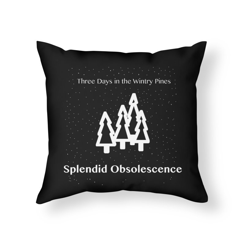 Three Days In The Wintry Pines Album Cover - Splendid Obsolescence Home Throw Pillow by Splendid Obsolescence