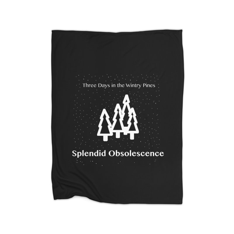 Three Days In The Wintry Pines Album Cover - Splendid Obsolescence Home Blanket by Splendid Obsolescence