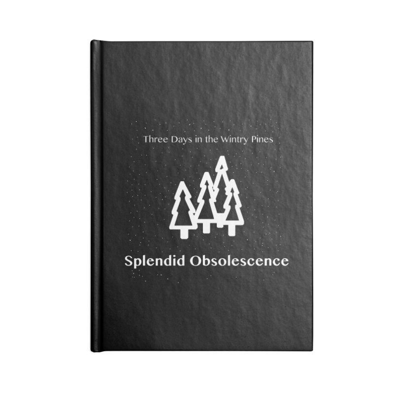 Three Days In The Wintry Pines Album Cover - Splendid Obsolescence Accessories Lined Journal Notebook by Splendid Obsolescence
