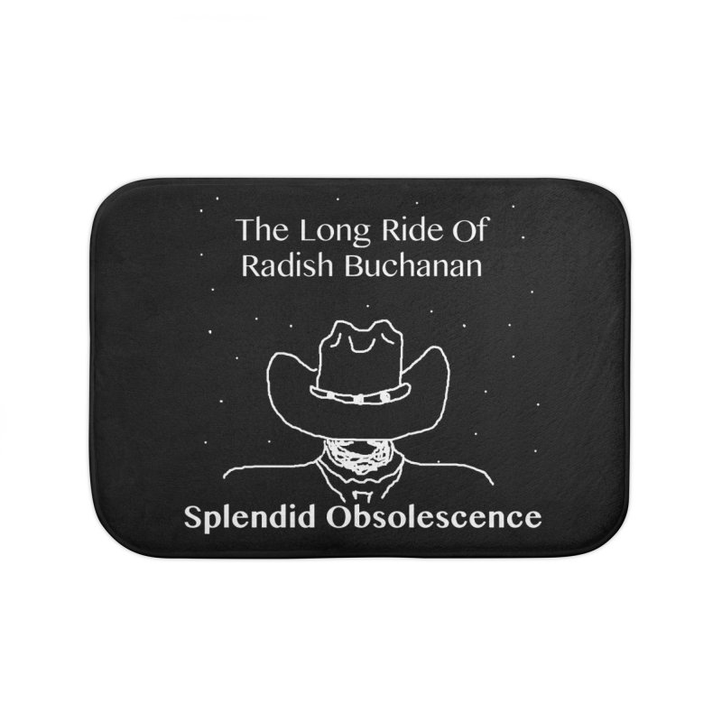 The Long Ride of Radish Buchanan Album Cover - Splendid Obsolescence Home Bath Mat by Splendid Obsolescence