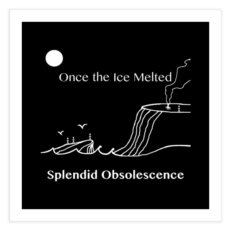 Once the Ice Melted Album Cover - Splendid Obsolescence Home Fine Art Print by Splendid Obsolescence