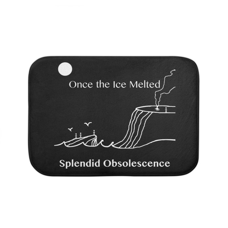 Once the Ice Melted Album Cover - Splendid Obsolescence Home Bath Mat by Splendid Obsolescence
