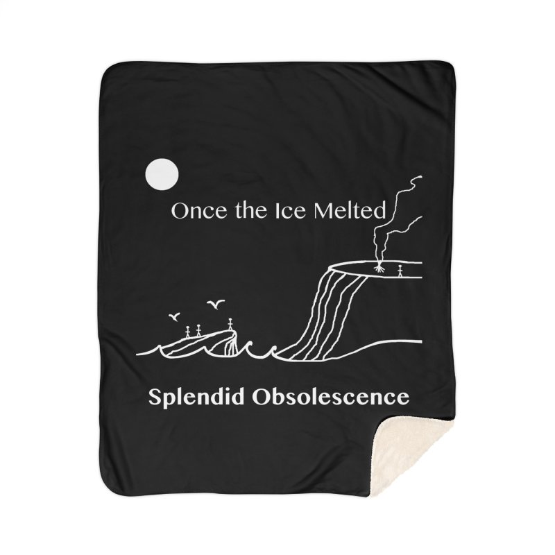 Once the Ice Melted Album Cover - Splendid Obsolescence Home Sherpa Blanket Blanket by Splendid Obsolescence