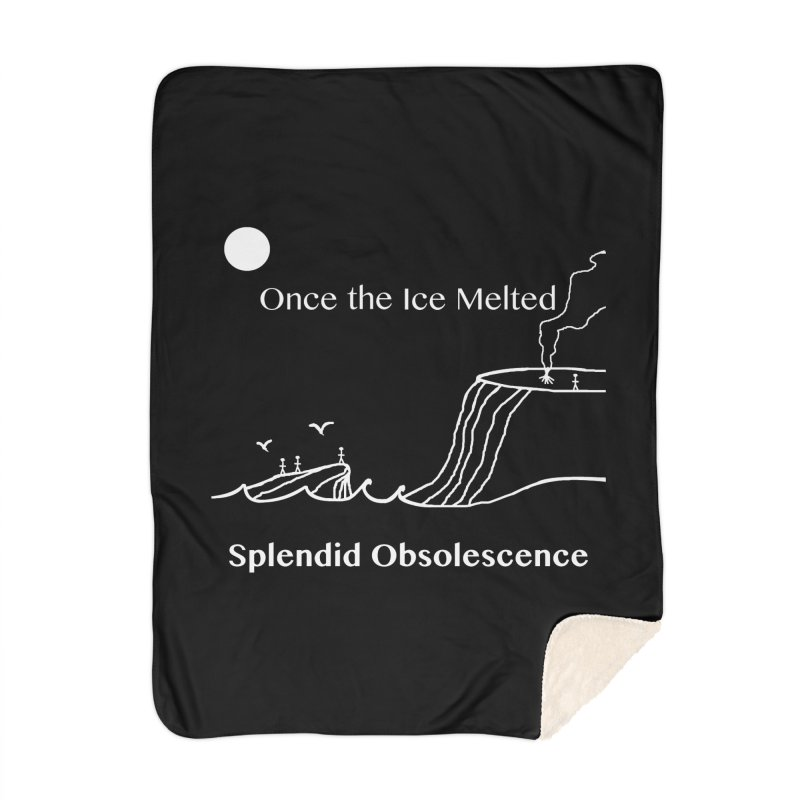 Once the Ice Melted Album Cover - Splendid Obsolescence Home Blanket by Splendid Obsolescence