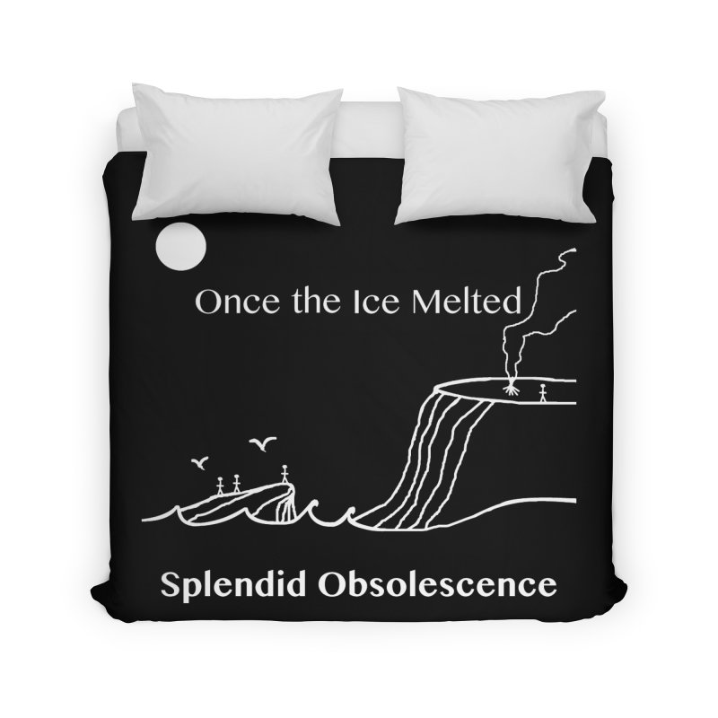 Once the Ice Melted Album Cover - Splendid Obsolescence Home Duvet by Splendid Obsolescence