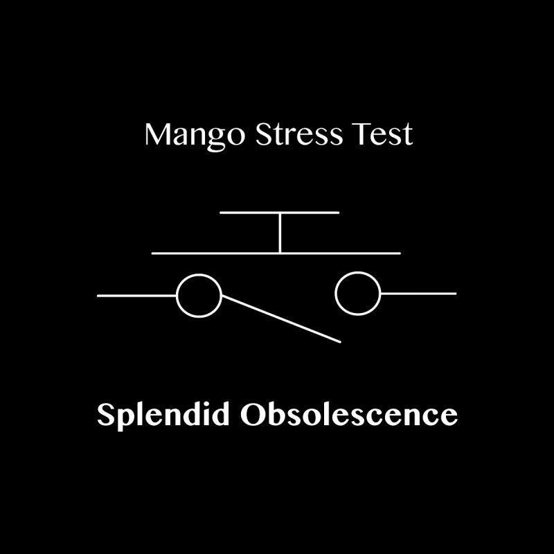 Mango Stress Test Album Cover - Splendid Obsolescence Accessories Sticker by Splendid Obsolescence