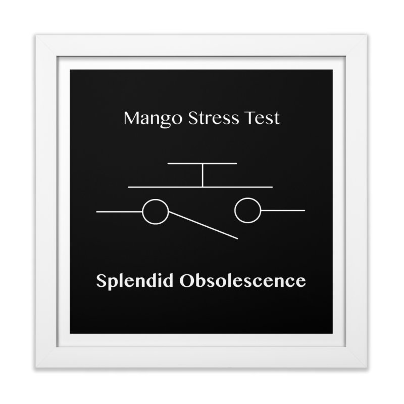 Mango Stress Test Album Cover - Splendid Obsolescence Home Framed Fine Art Print by Splendid Obsolescence