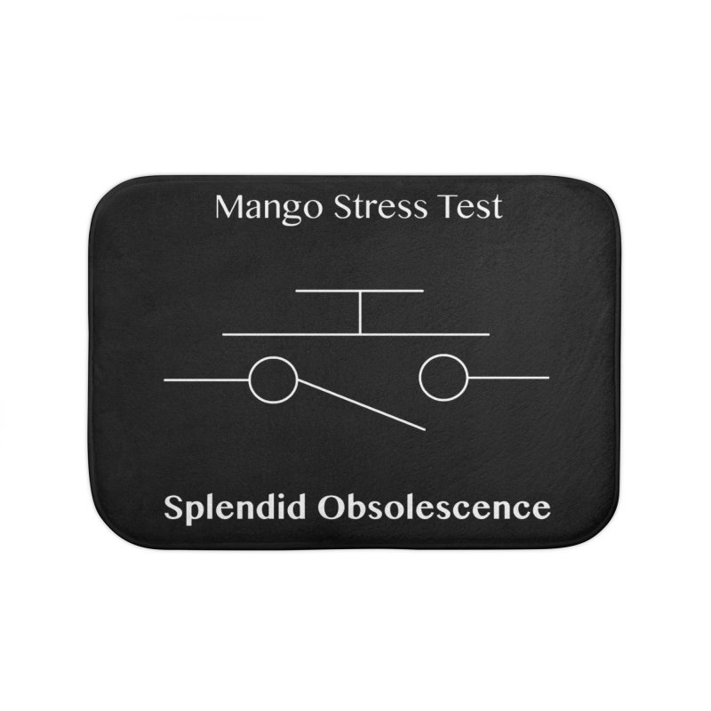 Mango Stress Test Album Cover - Splendid Obsolescence Home Bath Mat by Splendid Obsolescence