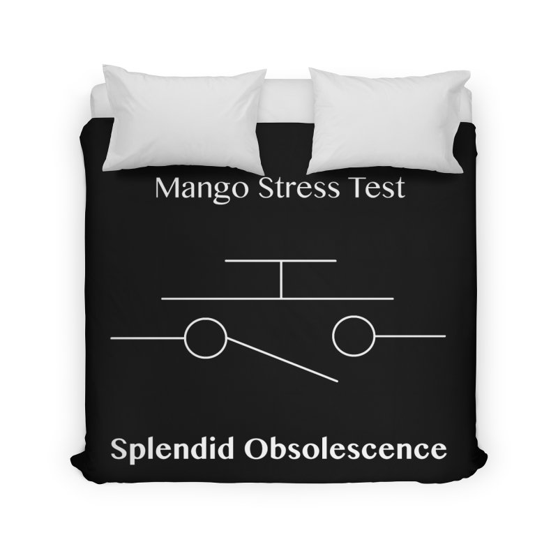 Mango Stress Test Album Cover - Splendid Obsolescence Home Duvet by Splendid Obsolescence