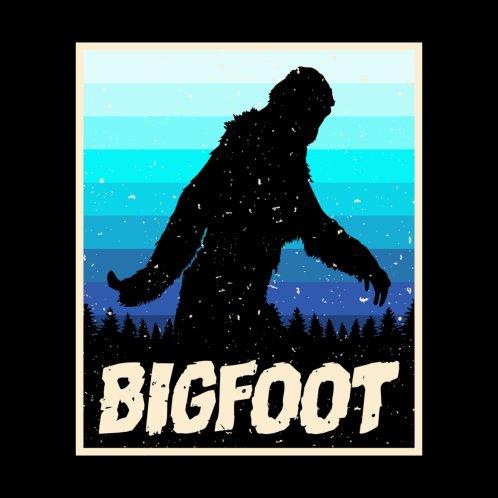 Design for colorful bigfoot