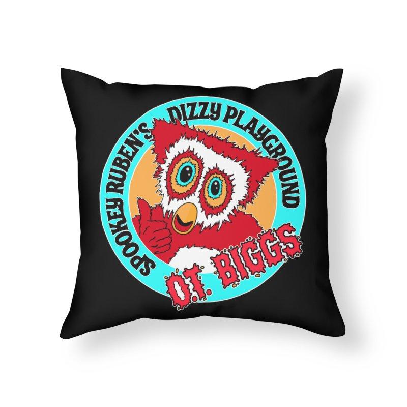 O.T. Biggs Home Throw Pillow by Spookey Ruben Clothing Store