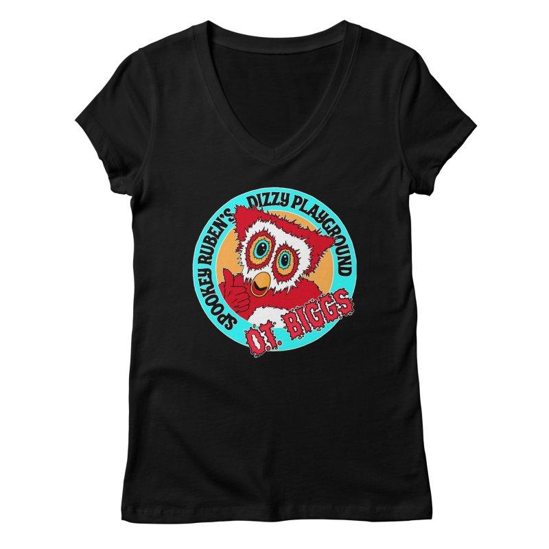 O.T. Biggs Women's V-Neck by Spookey Ruben Clothing Store