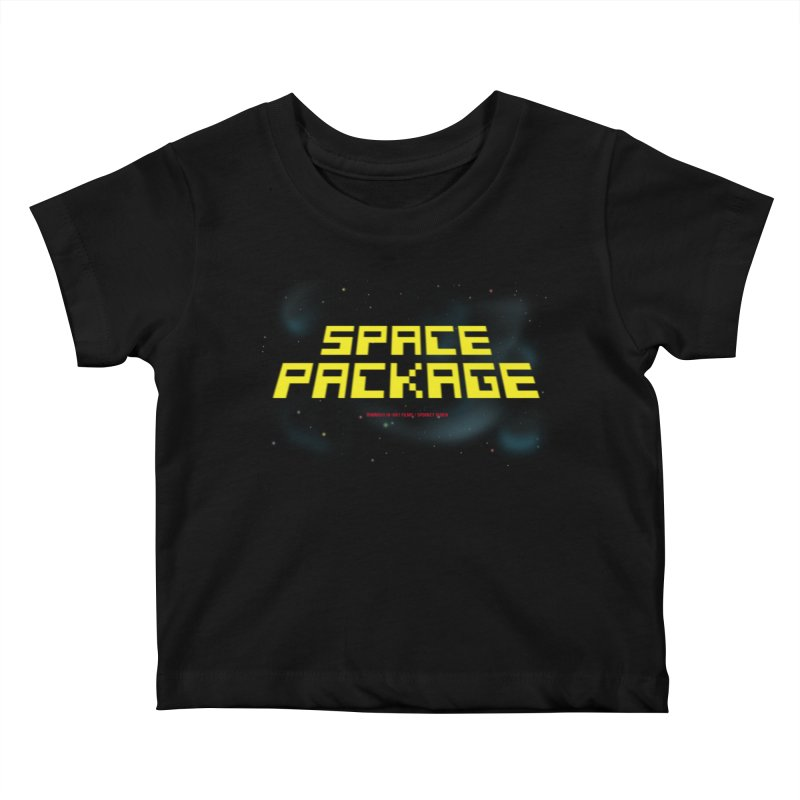 SPACE PACKAGE Kids Baby T-Shirt by Spookey Ruben Clothing Store