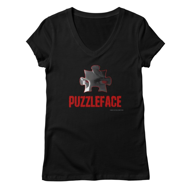 PUZZLEFACE Women's V-Neck by Spookey Ruben Clothing Store