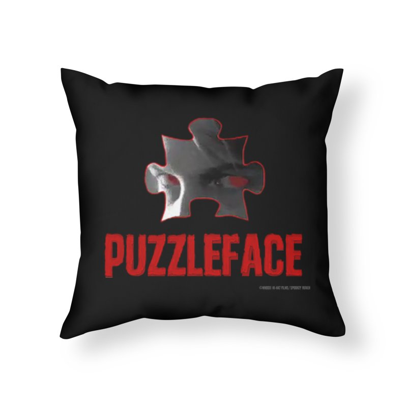 PUZZLEFACE Home Throw Pillow by Spookey Ruben Clothing Store