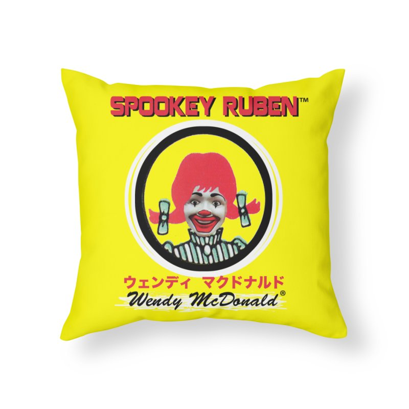 WENDY MCDONALD Home Throw Pillow by Spookey Ruben Clothing Store