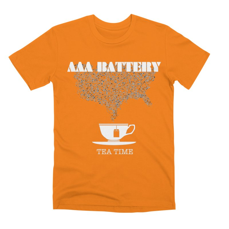 AAA BATTERY Men's T-Shirt by Spookey Ruben Clothing Store