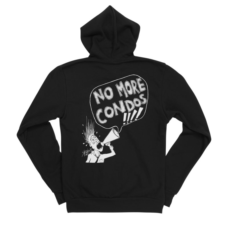 NO MORE CONDOS!!!! Men's Zip-Up Hoody by Spookey Ruben Clothing Store