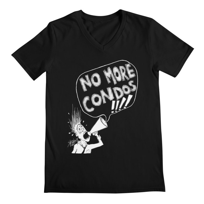 NO MORE CONDOS!!!! Men's V-Neck by Spookey Ruben Clothing Store