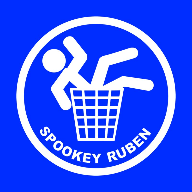 "Spookey Classic ""Man in the Trash' Logo Home Fine Art Print by Spookey Ruben Clothing Store"