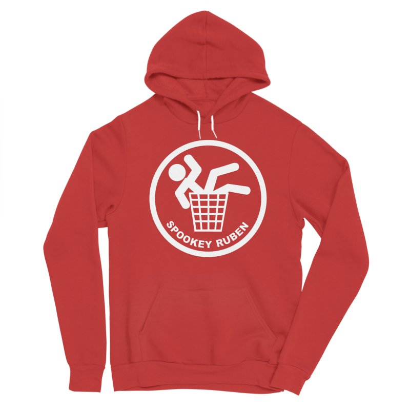 """Spookey Classic """"Man in the Trash' Logo Women's Pullover Hoody by Spookey Ruben Clothing Store"""