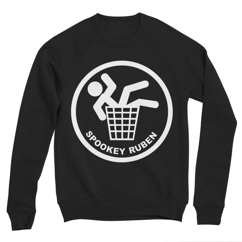 "Spookey Classic ""Man in the Trash' Logo Women's Sweatshirt by Spookey Ruben Clothing Store"