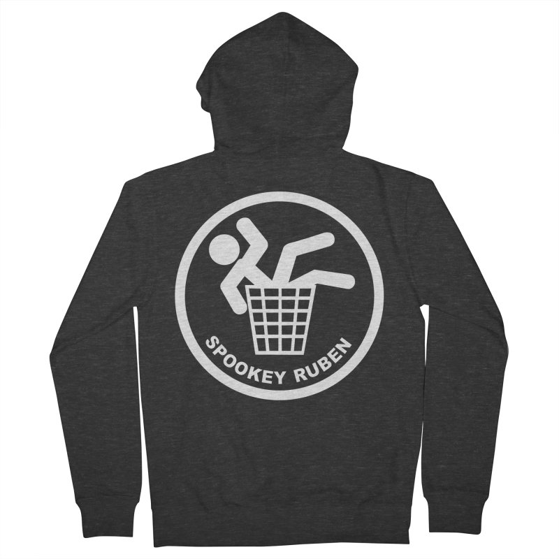 "Spookey Classic ""Man in the Trash' Logo Women's Zip-Up Hoody by Spookey Ruben Clothing Store"