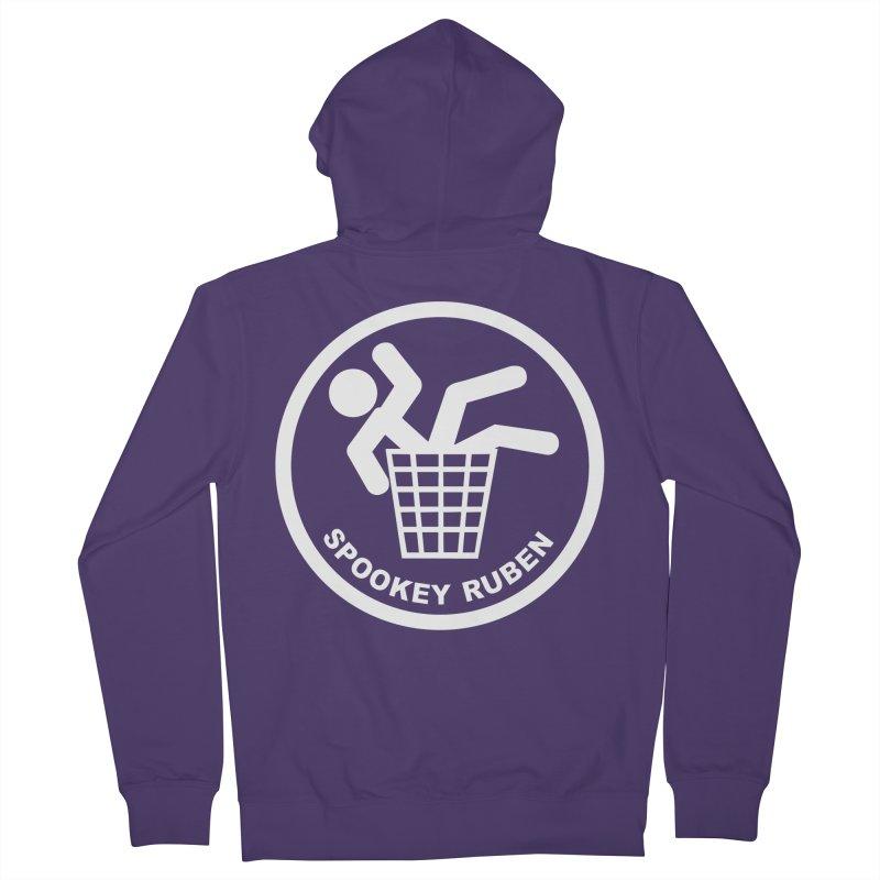 "Spookey Classic ""Man in the Trash' Logo Women's Zip-Up Hoody by Spookey Ruben Clothing Store"