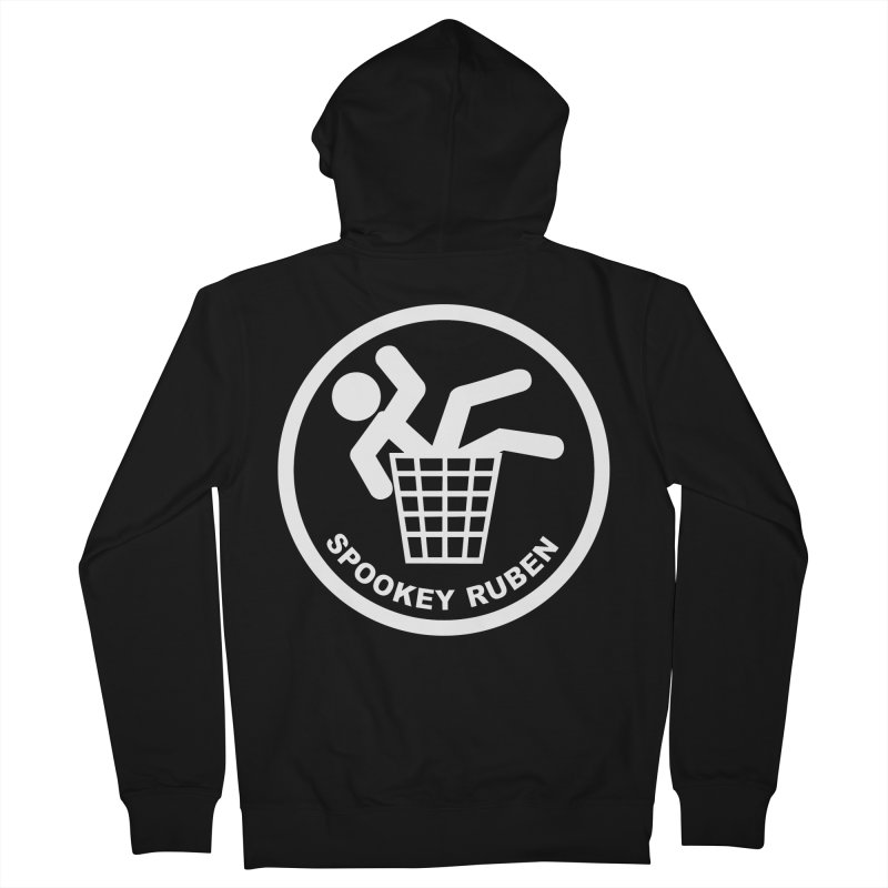 "Spookey Classic ""Man in the Trash' Logo Men's Zip-Up Hoody by Spookey Ruben Clothing Store"