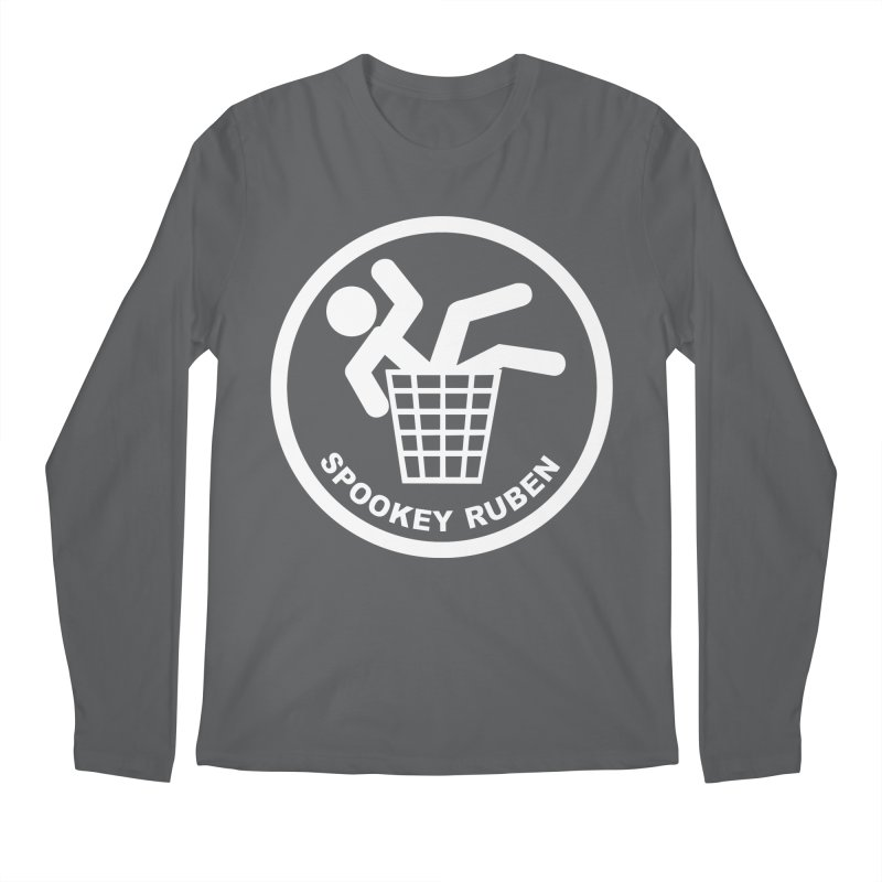 "Spookey Classic ""Man in the Trash' Logo Men's Longsleeve T-Shirt by Spookey Ruben Clothing Store"