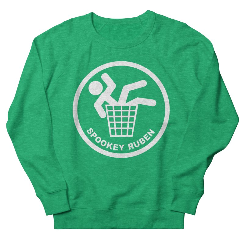 "Spookey Classic ""Man in the Trash' Logo Women's Sweatshirt by Spookey Ruben Clothing Store"
