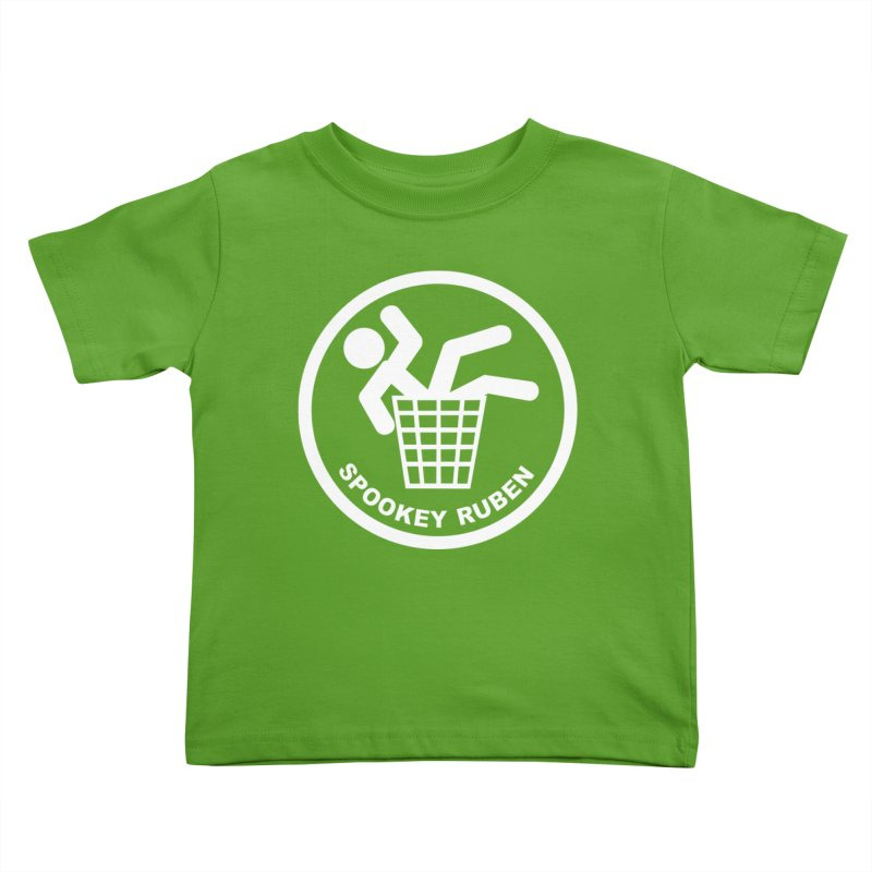 """Spookey Classic """"Man in the Trash' Logo Kids Toddler T-Shirt by Spookey Ruben Clothing Store"""