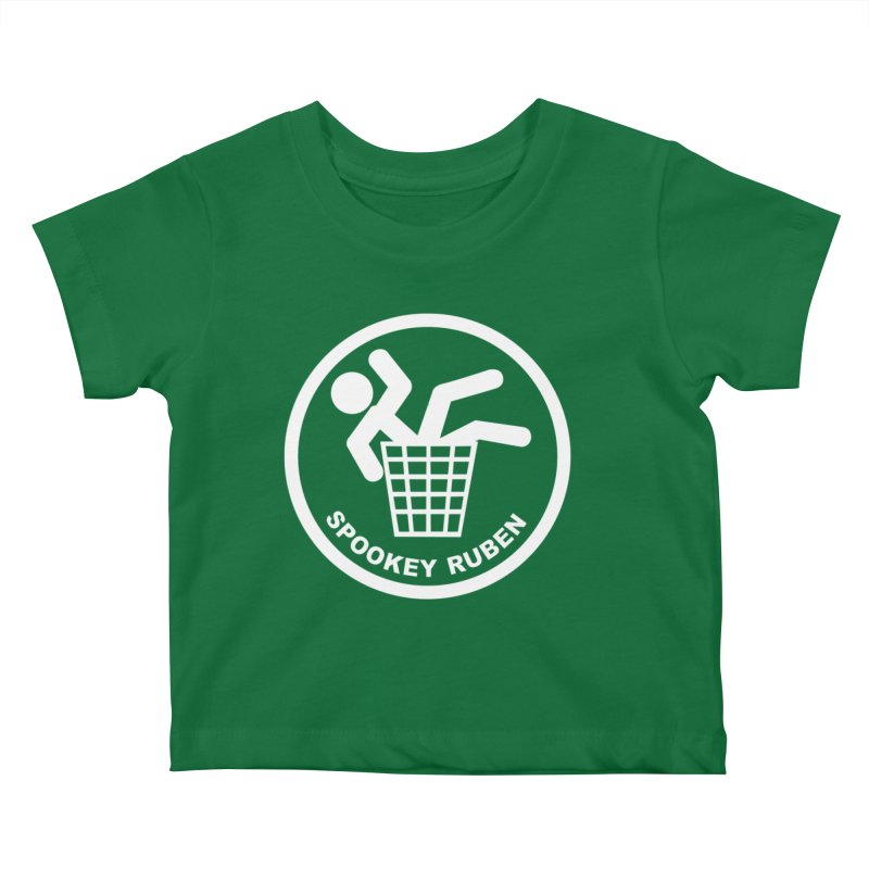 """Spookey Classic """"Man in the Trash' Logo Kids Baby T-Shirt by Spookey Ruben Clothing Store"""
