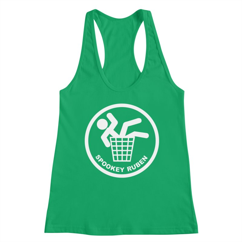 "Spookey Classic ""Man in the Trash' Logo Women's Tank by Spookey Ruben Clothing Store"