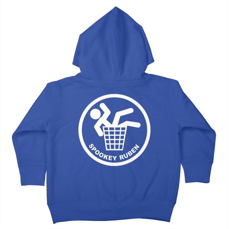 """Spookey Classic """"Man in the Trash' Logo Kids Toddler Zip-Up Hoody by Spookey Ruben Clothing Store"""