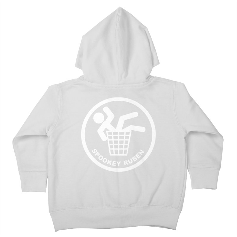 "Spookey Classic ""Man in the Trash' Logo Kids Toddler Zip-Up Hoody by Spookey Ruben Clothing Store"