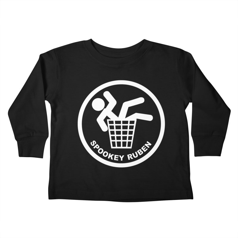 "Spookey Classic ""Man in the Trash' Logo Kids Toddler Longsleeve T-Shirt by Spookey Ruben Clothing Store"