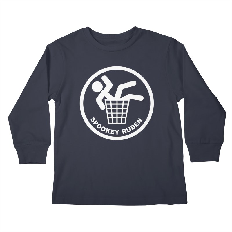 "Spookey Classic ""Man in the Trash' Logo Kids Longsleeve T-Shirt by Spookey Ruben Clothing Store"