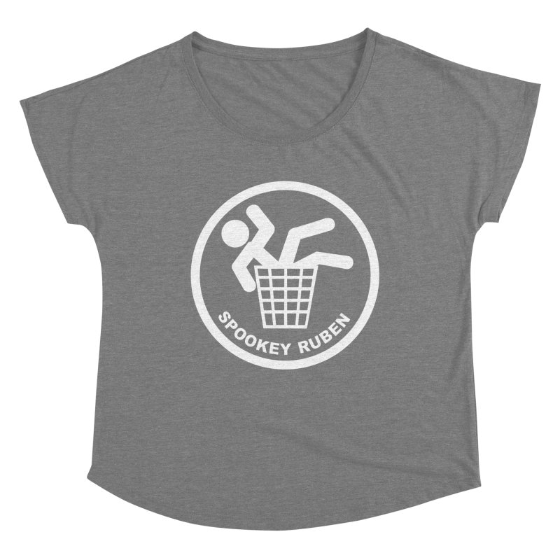 "Spookey Classic ""Man in the Trash' Logo Women's Scoop Neck by Spookey Ruben Clothing Store"