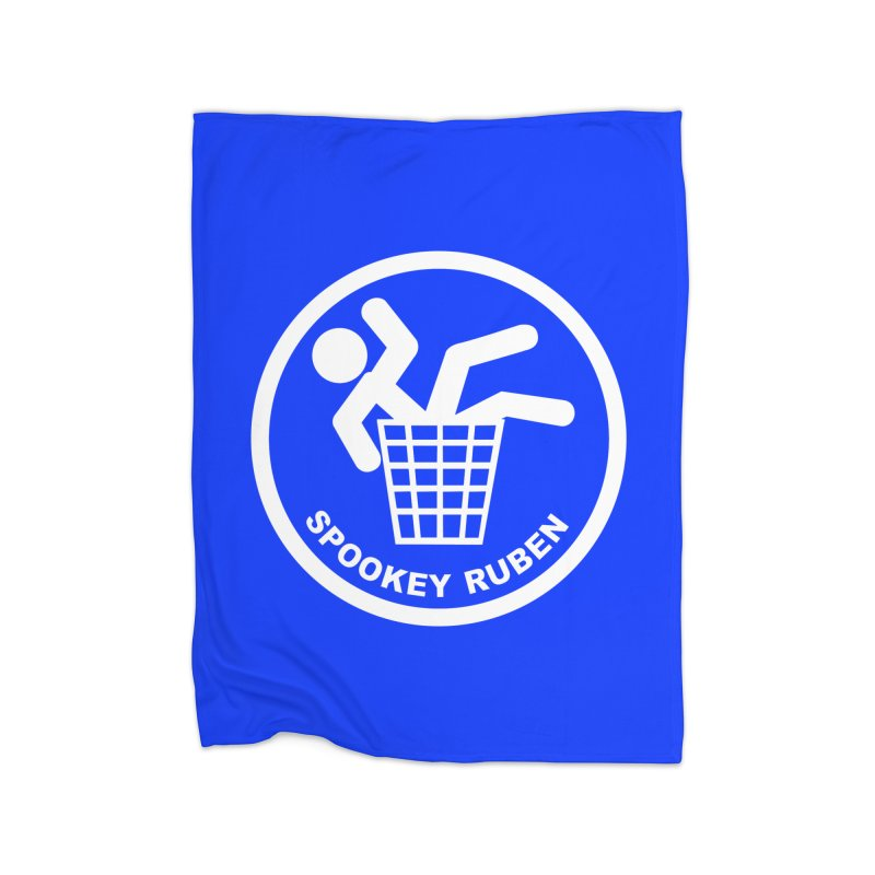 "Spookey Classic ""Man in the Trash' Logo Home Blanket by Spookey Ruben Clothing Store"