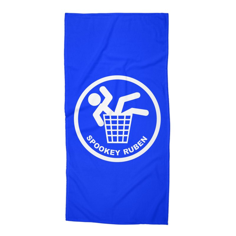 """Spookey Classic """"Man in the Trash' Logo Accessories Beach Towel by Spookey Ruben Clothing Store"""