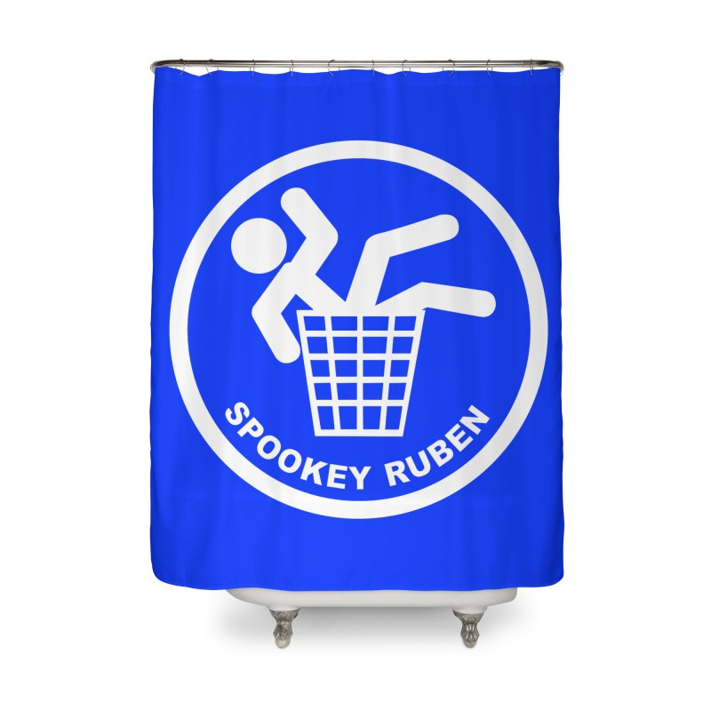 "Spookey Classic ""Man in the Trash' Logo Home Shower Curtain by Spookey Ruben Clothing Store"