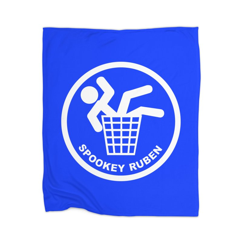 """Spookey Classic """"Man in the Trash' Logo Home Blanket by Spookey Ruben Clothing Store"""
