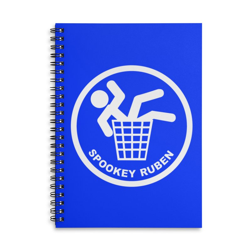 """Spookey Classic """"Man in the Trash' Logo Accessories Notebook by Spookey Ruben Clothing Store"""