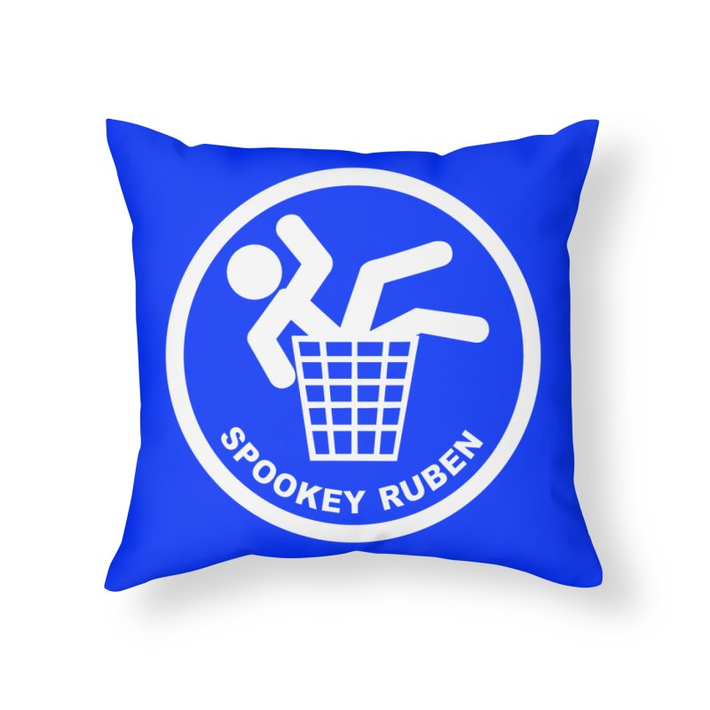 "Spookey Classic ""Man in the Trash' Logo Home Throw Pillow by Spookey Ruben Clothing Store"