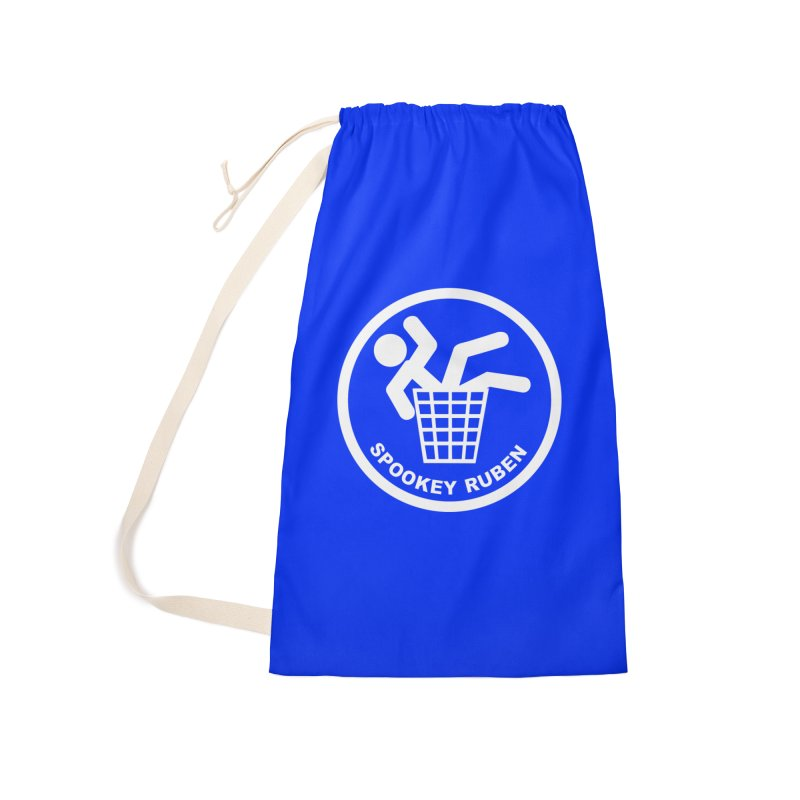 """Spookey Classic """"Man in the Trash' Logo Accessories Bag by Spookey Ruben Clothing Store"""